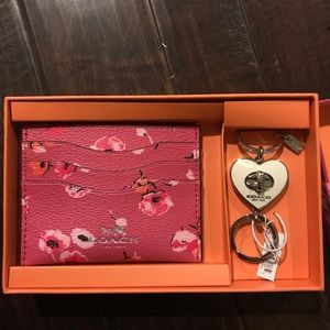 Coach card case with keychain
